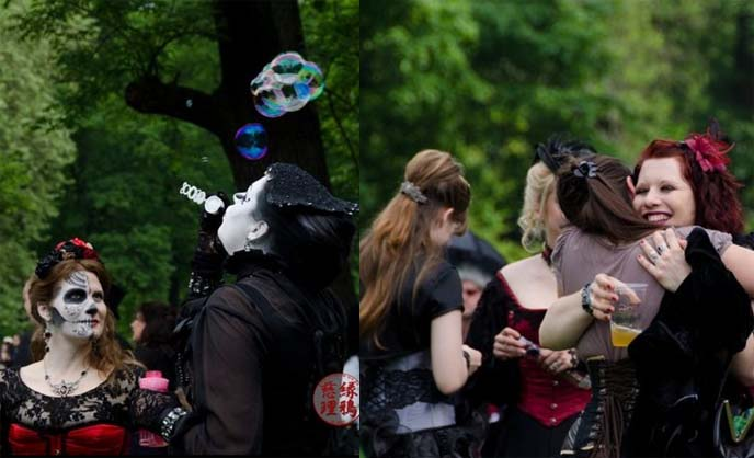 goth picnic in park