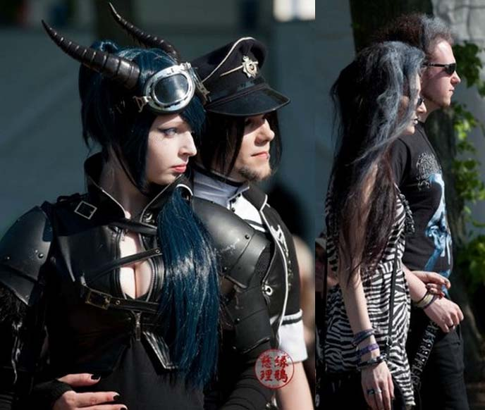 military goths, elder goth couple