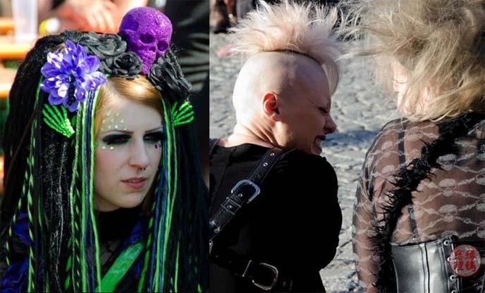 neon gothic cyber dreads hair