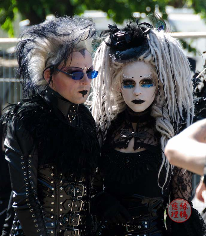 white face paint goth girl with dreads