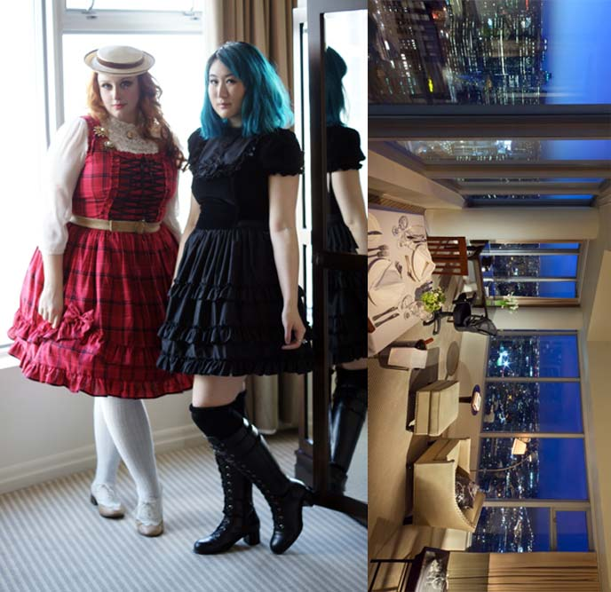 gloomth gothic dresses, blue hair color