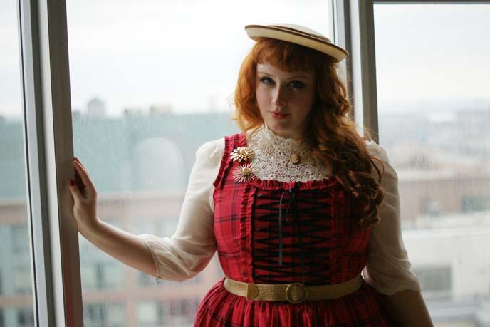 corset lacing lolita dress, gloomth