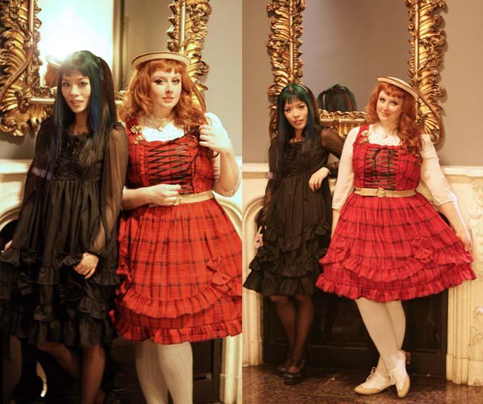 gothic lolita models, rococo mirror
