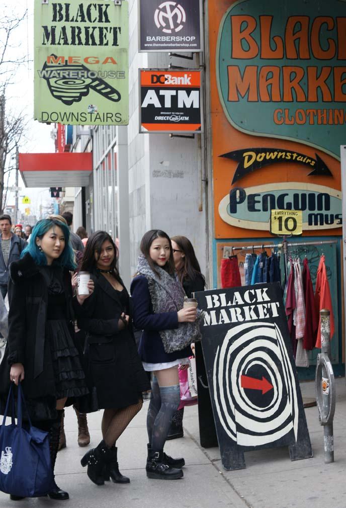 black market, secondhand clothes