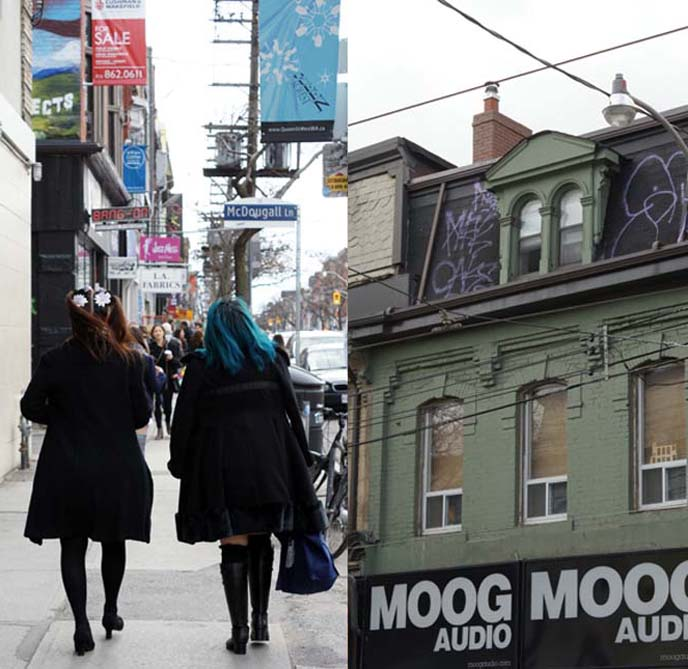 queen street west shops, moog audio