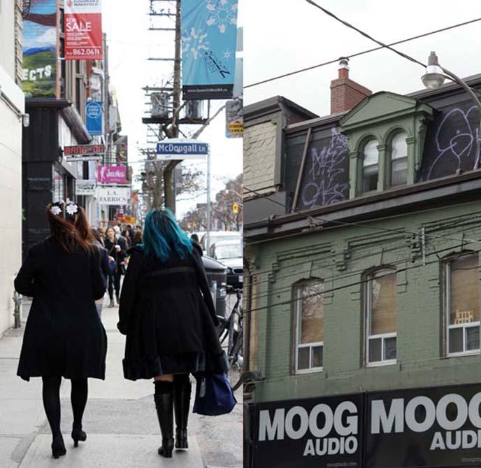 queen street west shops, moog audio