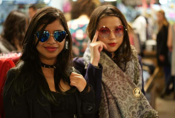 heart shaped hippie sunglasses