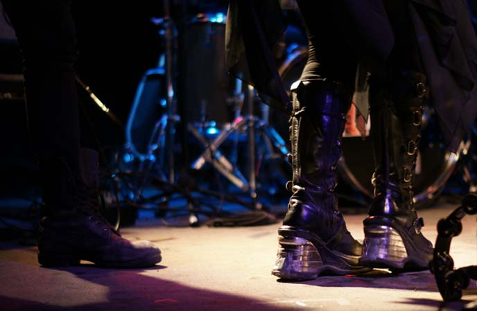 gothic boots on stage