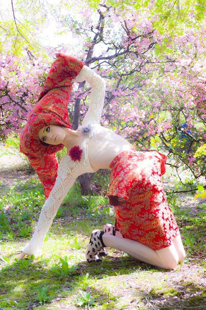 japanese drag queen, sakura blossoms
