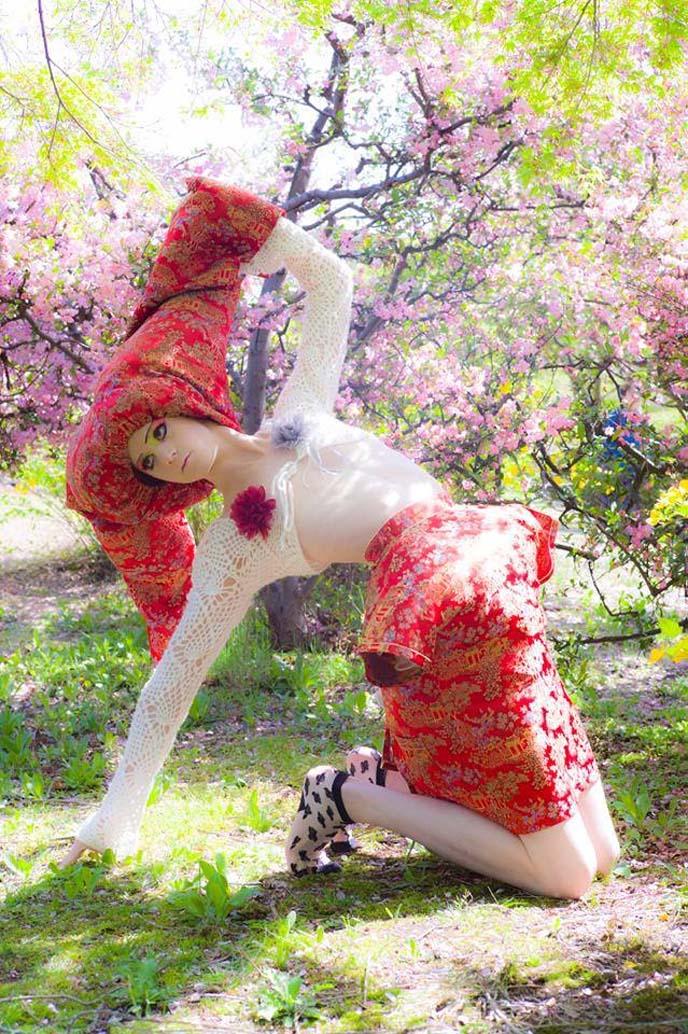 japanese drag queen, sakura blossoms