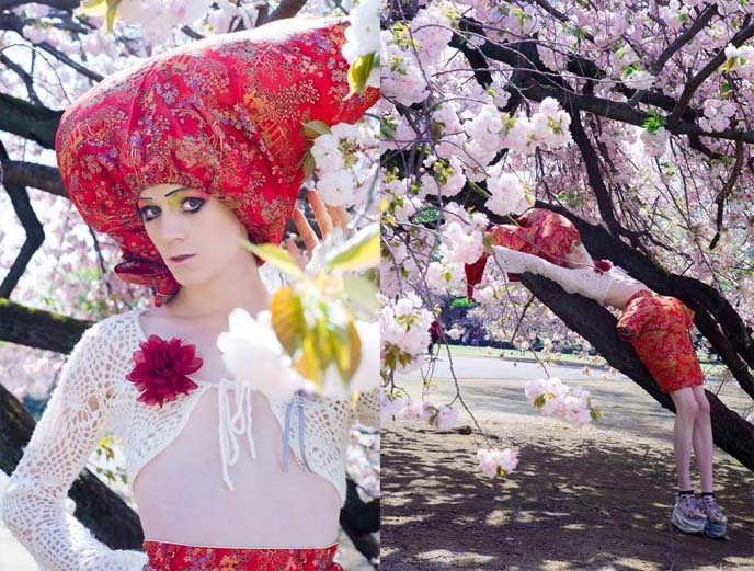 sakura spring flowers modeling