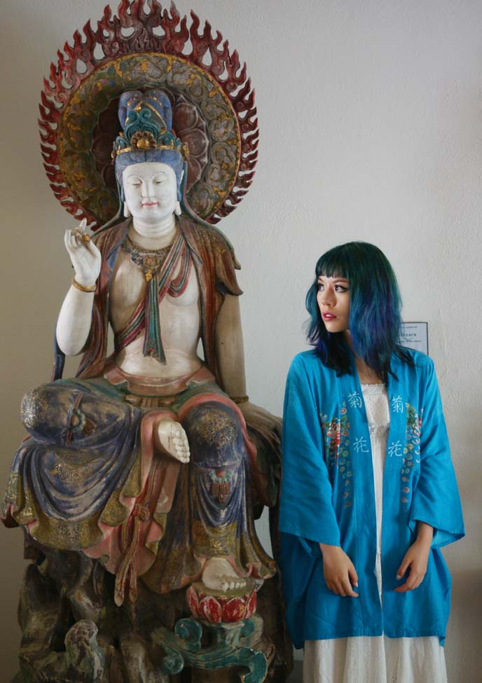 buddhist colorful statue, rainbow buddha