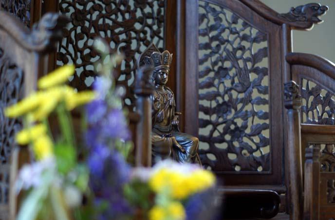wood buddha altar, SFZC