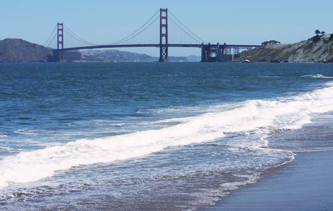baker beach golden gate bridge view