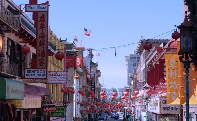 San Francisco Chinatown streets, lanterns