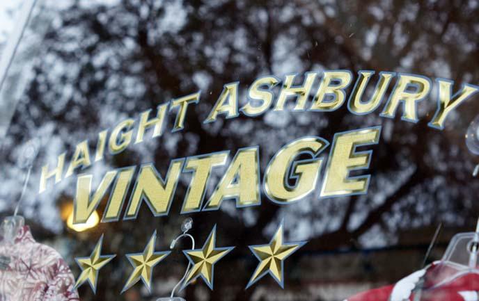 haight ashbury vintage sign