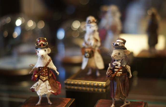 taxidermy mice steampunk clothes