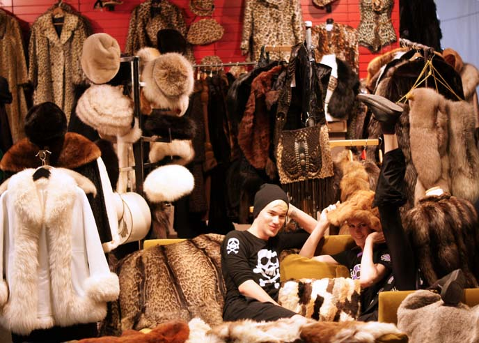 vintage fur coat shop