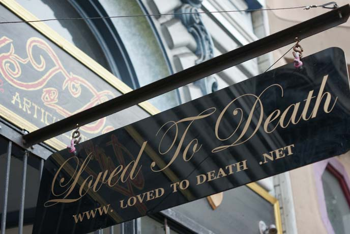 loved to death shop, san francisco