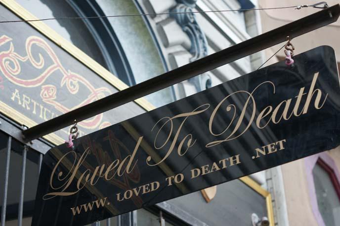 loved to death shop, san francisco