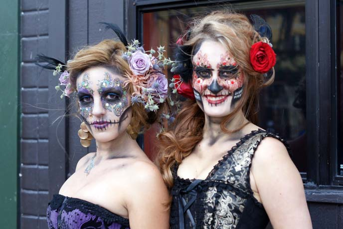 sugar skull makeup girls