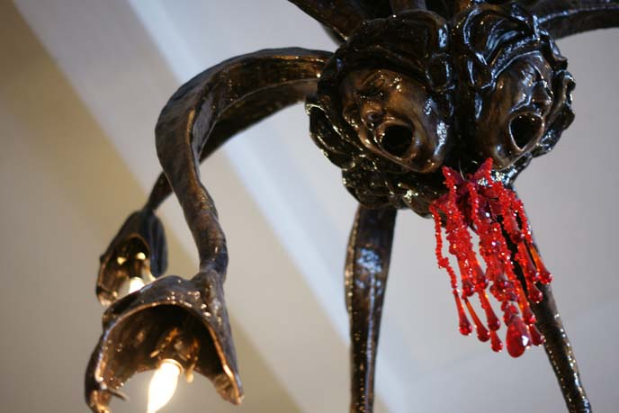 medusa tentacles chandelier lamp