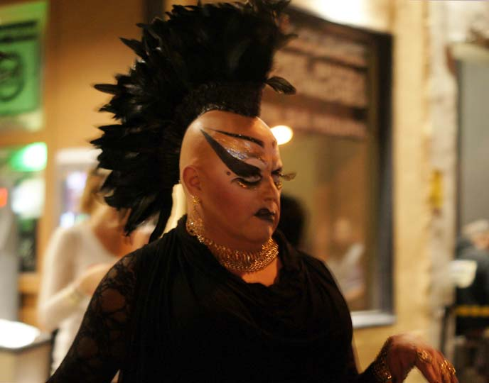 divine drag mohawk makeup