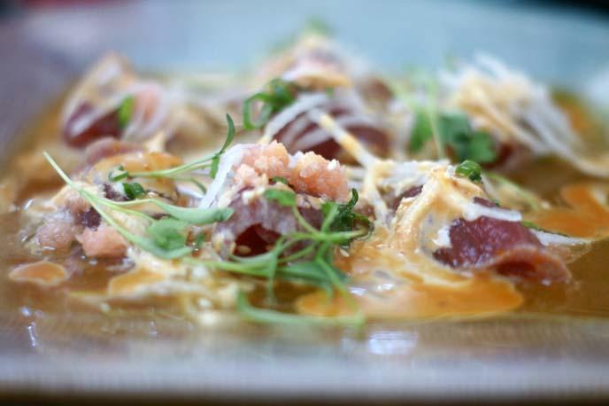 fresh tuna ceviche, peru