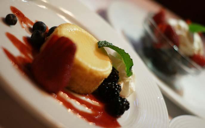 berries flan dessert