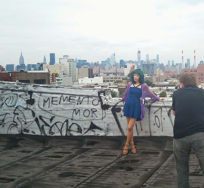 model photoshoot, new york rooftop