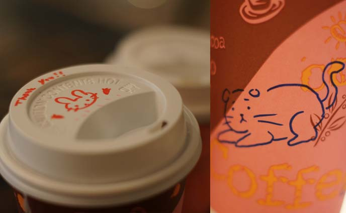 cute drawing on drinks
