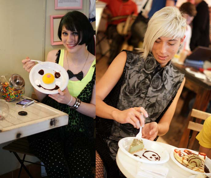 cute food decorating, maid cafe