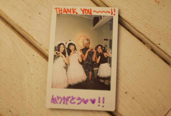 cheki maid cafe polaroids
