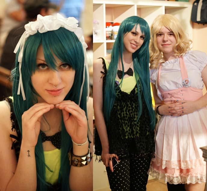 hatsune miku green wig