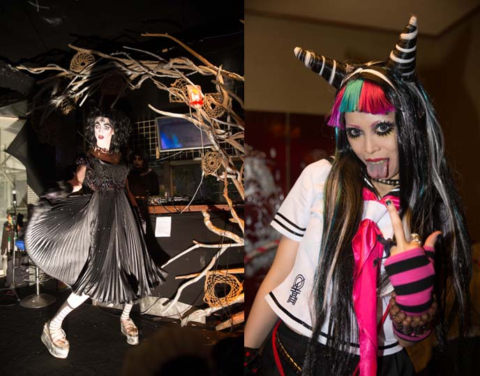 harajuku eye makeup, horns hairstyle