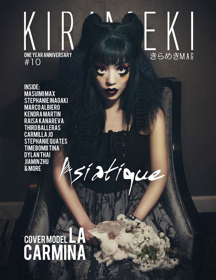 la carmina makeup, kirameki asiatique magazine cover