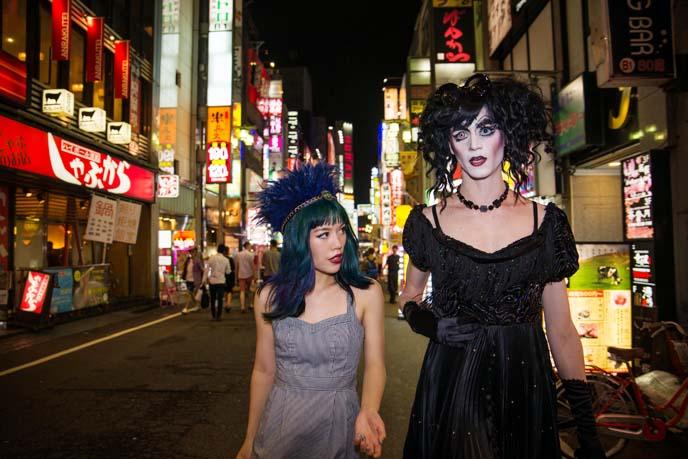 japan club kids, street snaps night