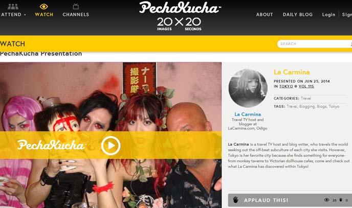 pechakucha example speech, format, slideshow