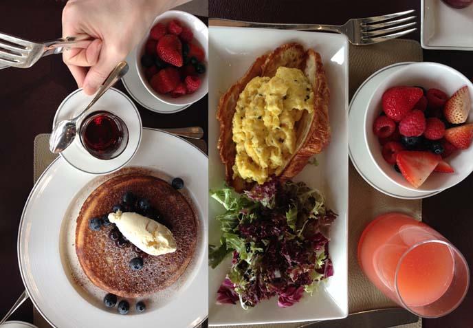 cafe gray deluxe breakfast, truffle egg crossant