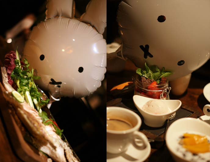 miffy eating fish steamed fish