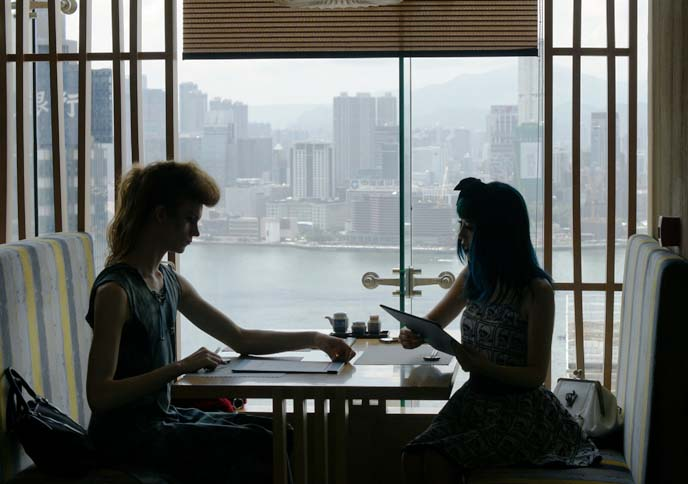 hong kong fine dining, skyline view