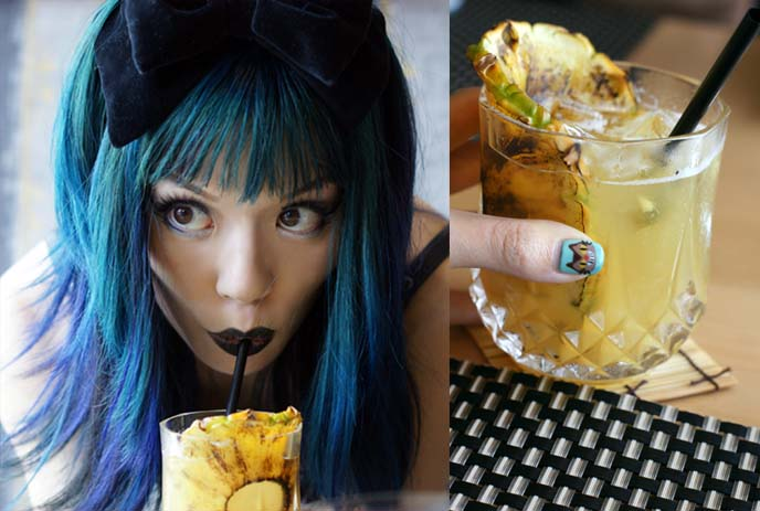 sushi to pineapple cocktail