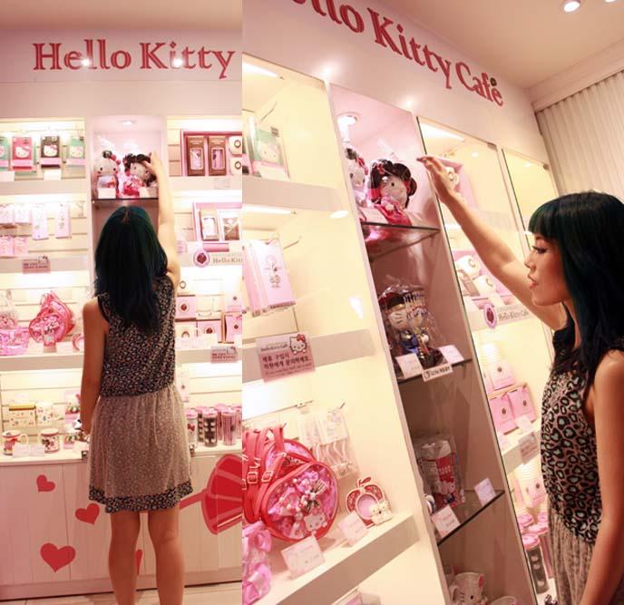 573ac7c0c Hello Kitty Cafe in Seoul, Korea! Sanrio theme cafe & gift shop ...