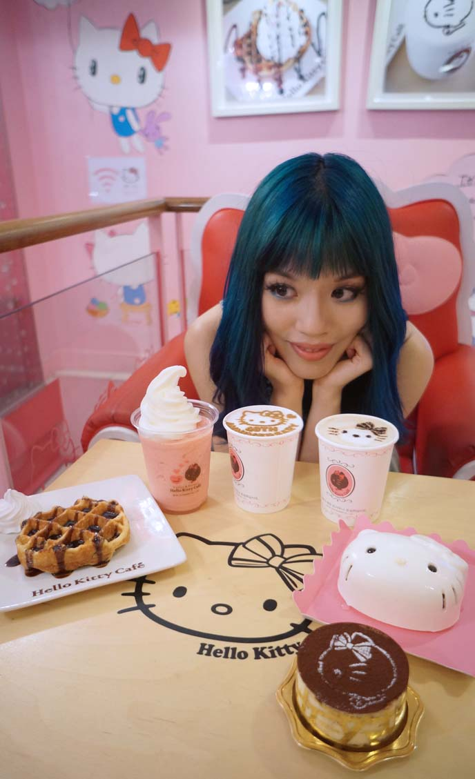 food at hello kitty cafe hongdae