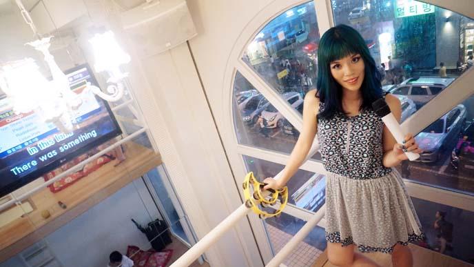glass windows karaoke, hongdae seoul