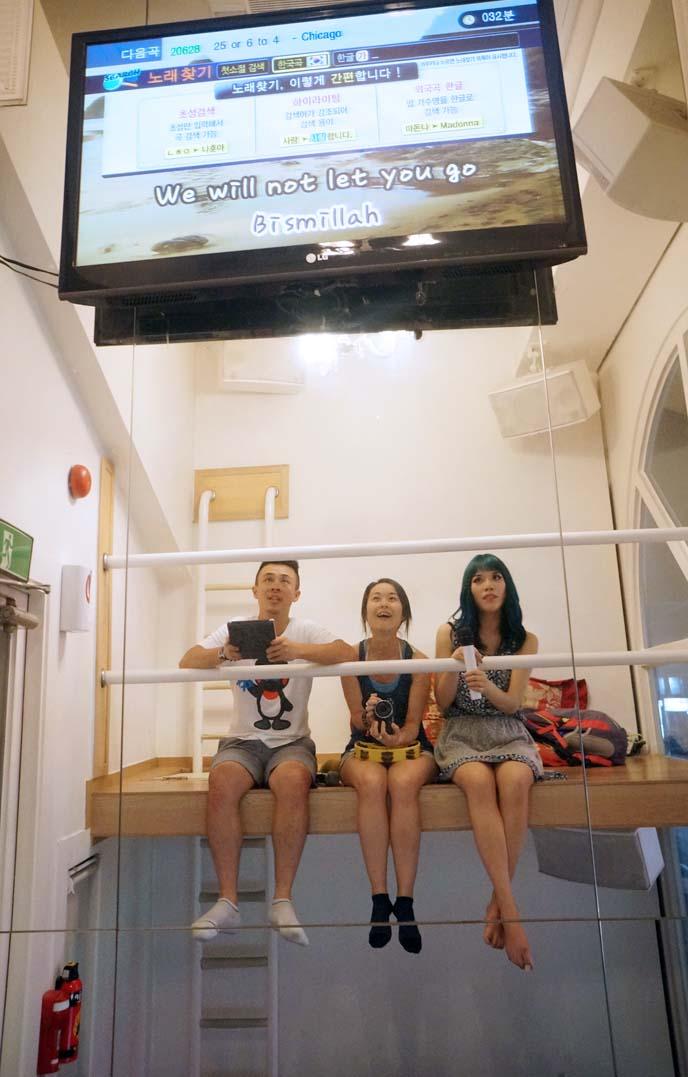 korean karaoke parlors, noraebang