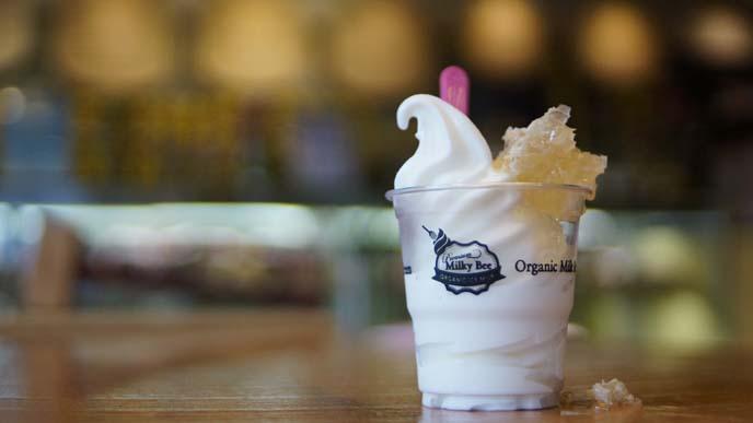 milky bee frozen yogurt