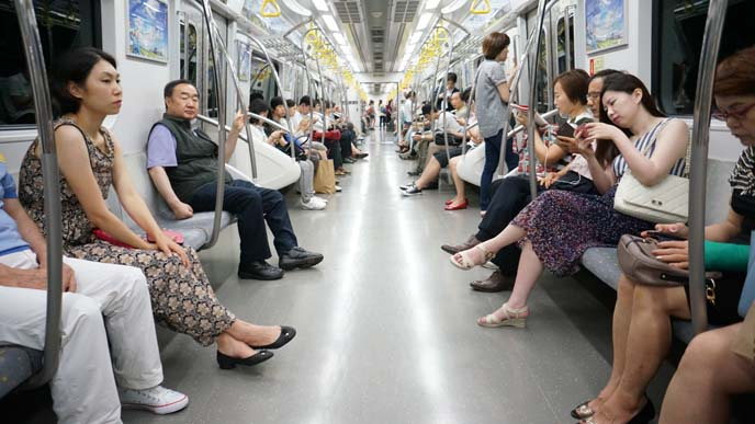inside seoul subway, metro