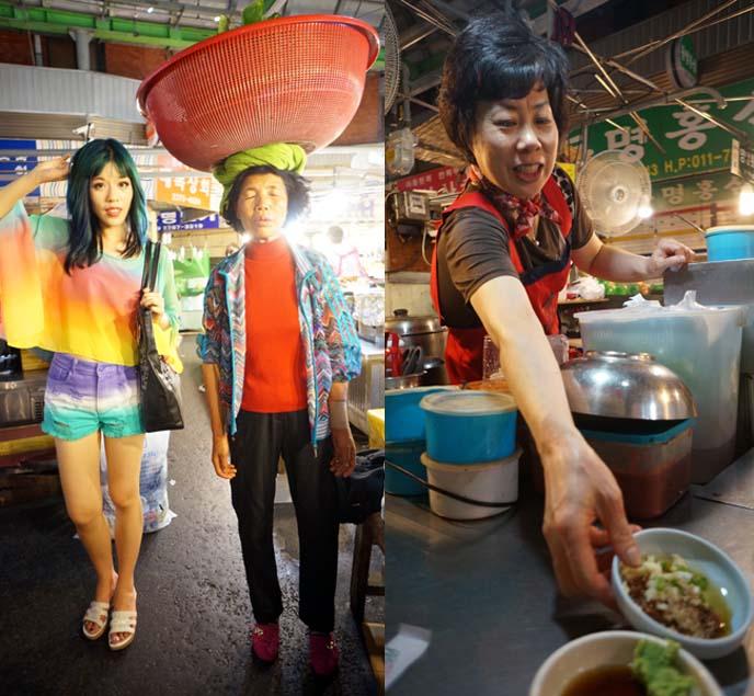 seoul korean food markets, vendors