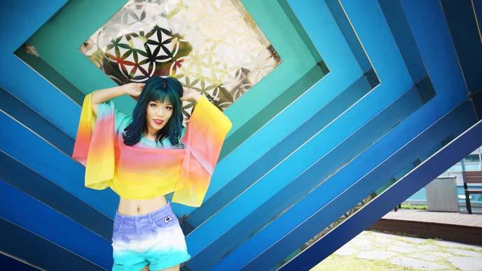 rainbow goth, fashion blogger